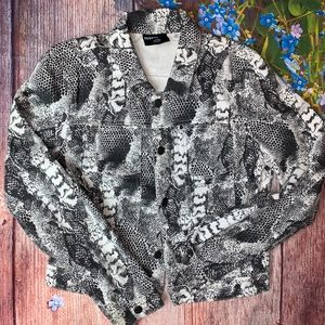 BDG Urban Outfitters Gray Animal Print Jacket L